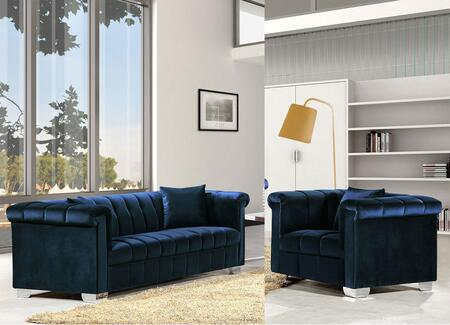 Kayla Collection 6152PCARMKIT1 2-Piece Living Room Sets with Stationary Sofa  and Living Room Chair in