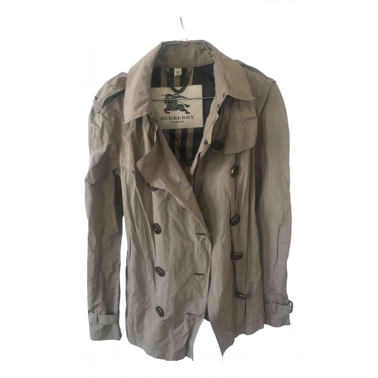 Burberry \N Lederjacke in  Metallic Polyester