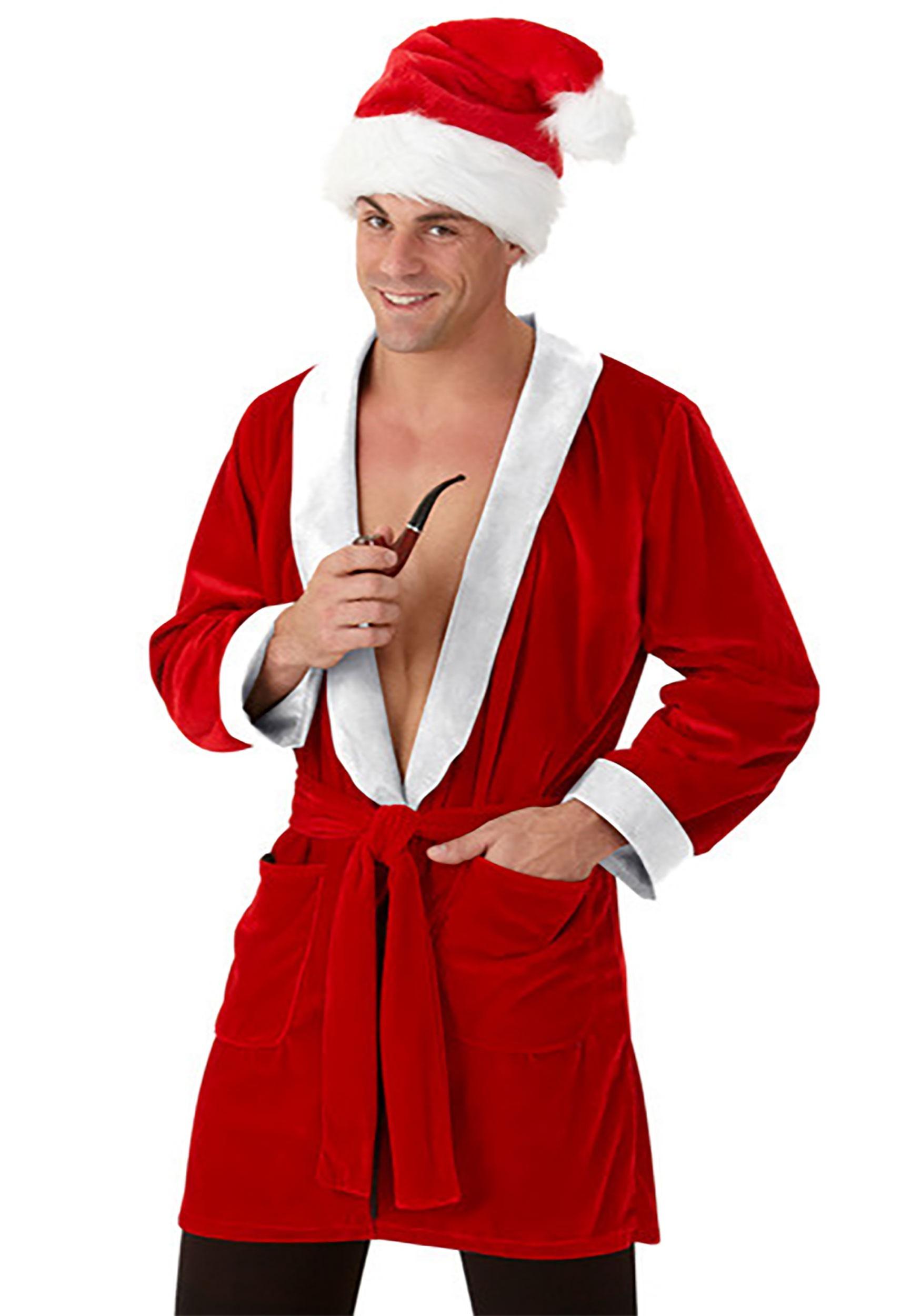 Santa Smoking Robe for Men