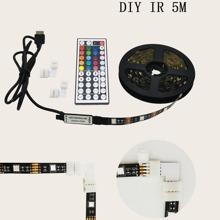 1pc Multicolored Strip Light With Remote Control