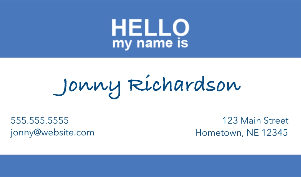 Modern Business Cards, Set of 40, Silk Rounded, Card & Stationery -Name Tag