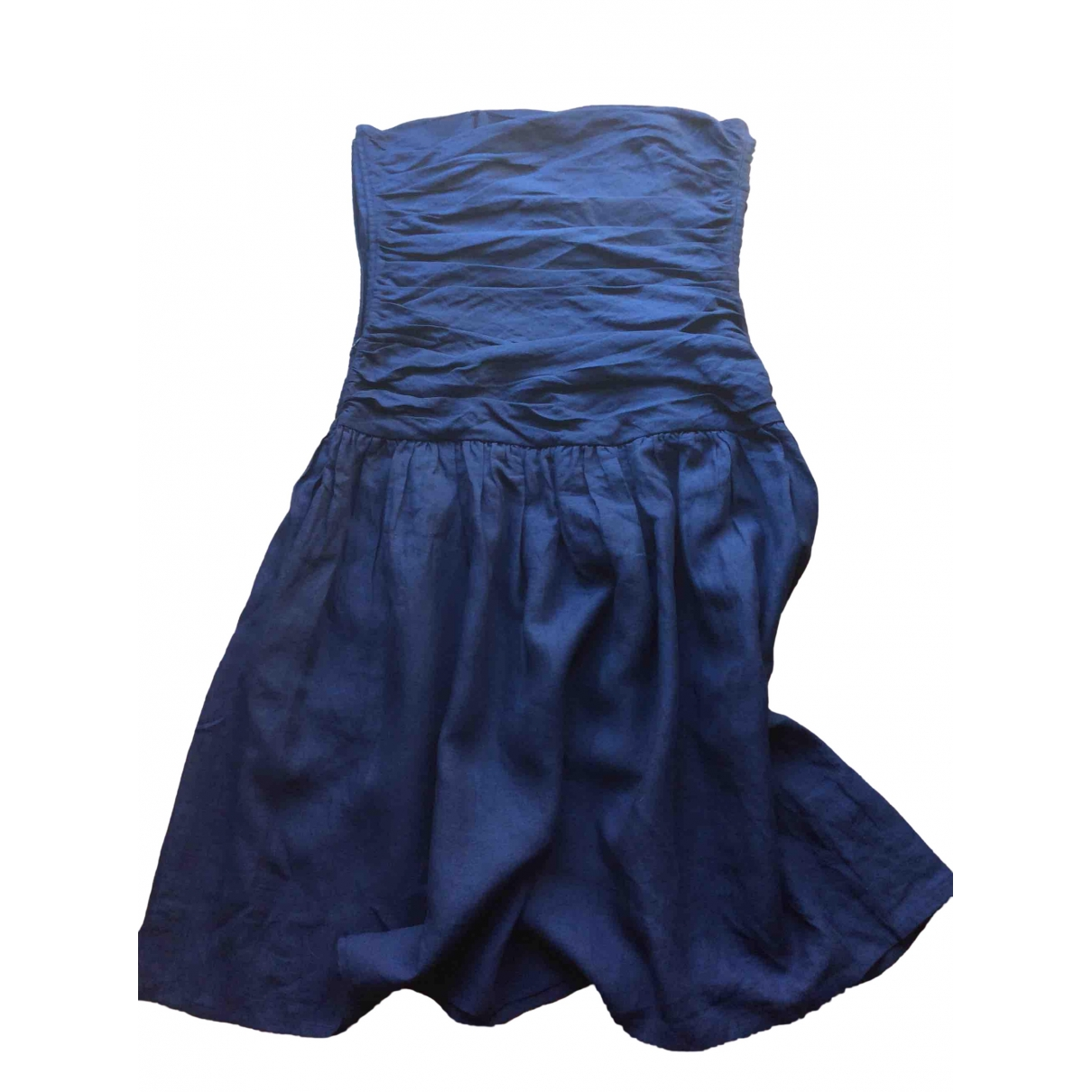 Agnes B. \N Kleid in  Blau Leinen