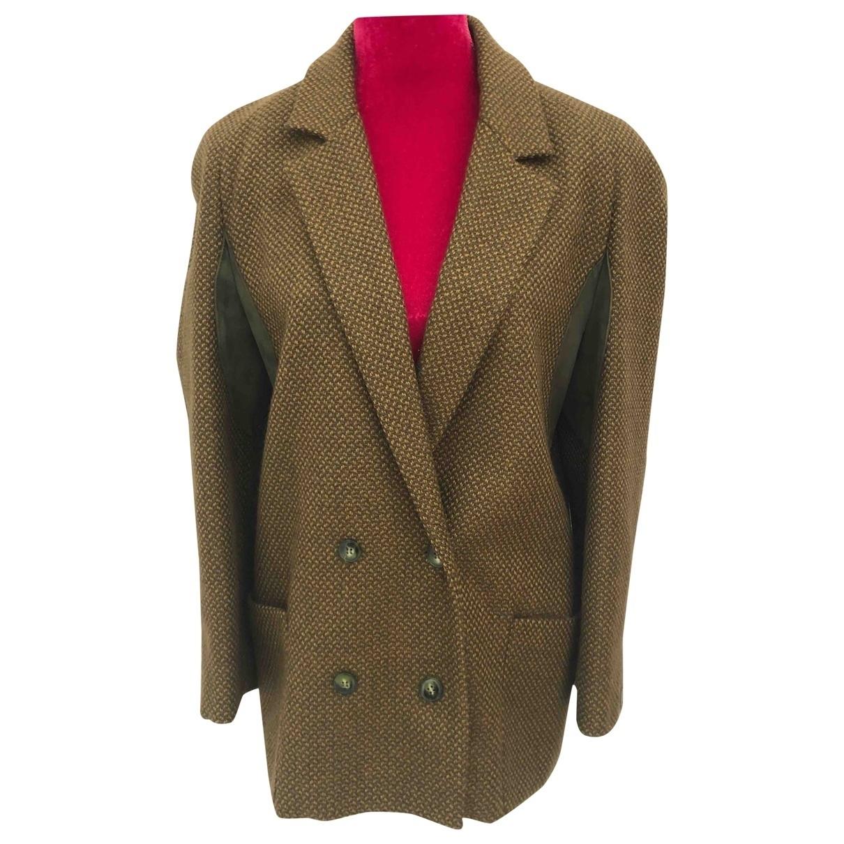 Alberta Ferretti - Veste   pour femme en laine - kaki
