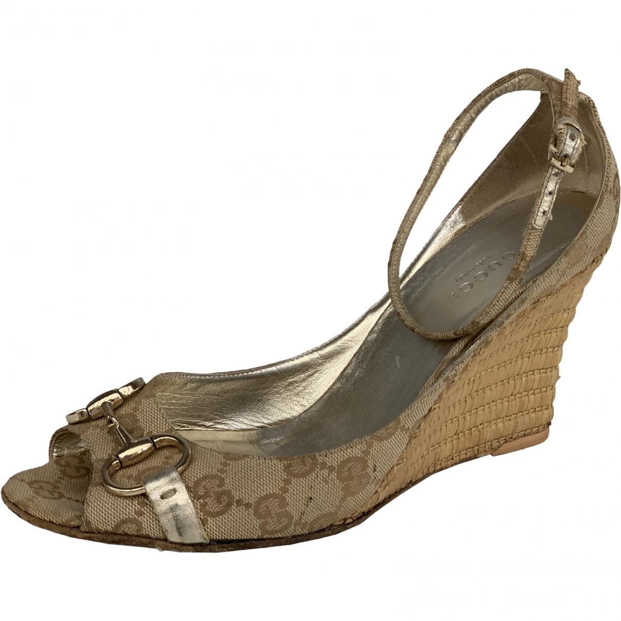 Gucci \N Beige Cloth Sandals for Women 39.5 EU