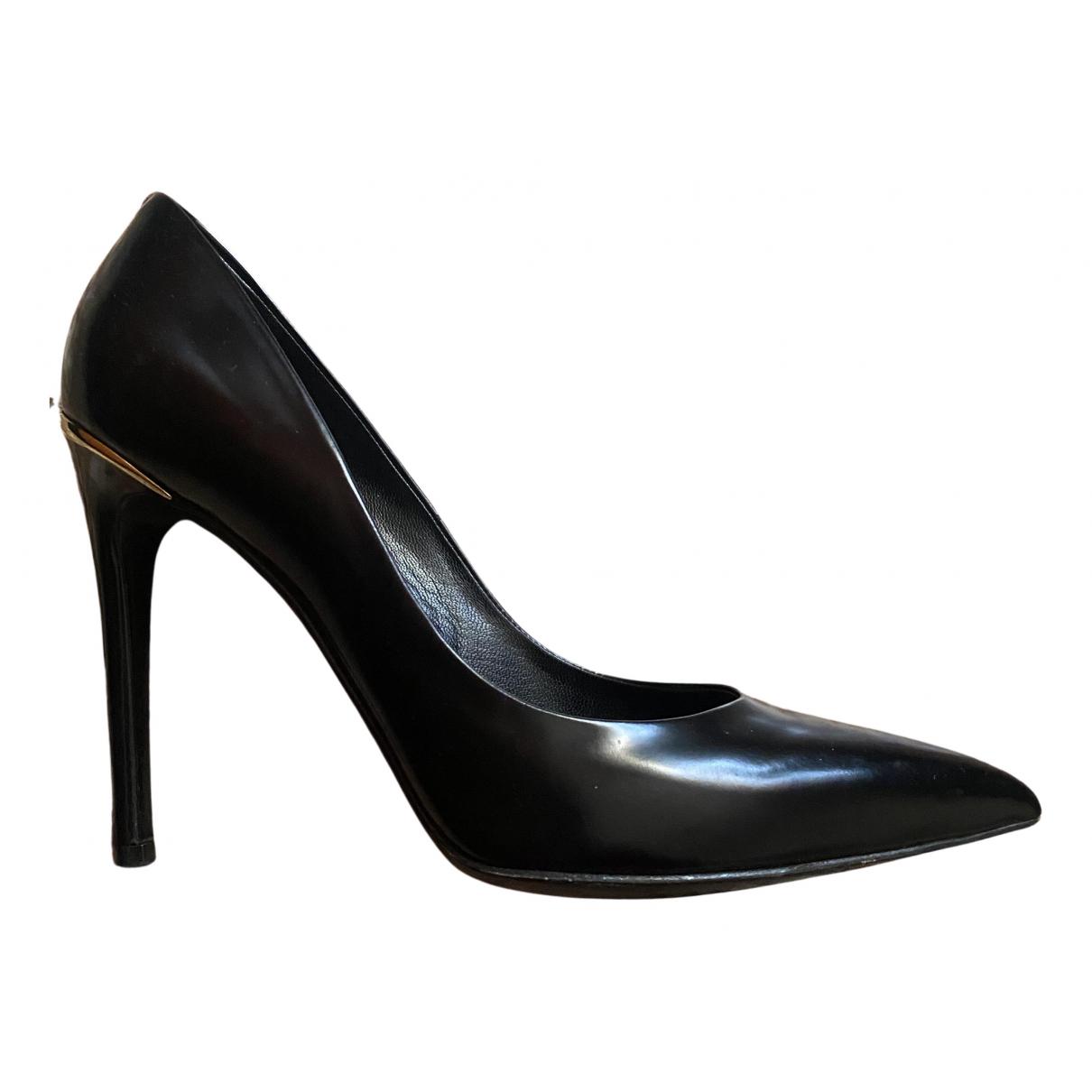 Louis Vuitton N Black Leather Heels for Women 37 EU