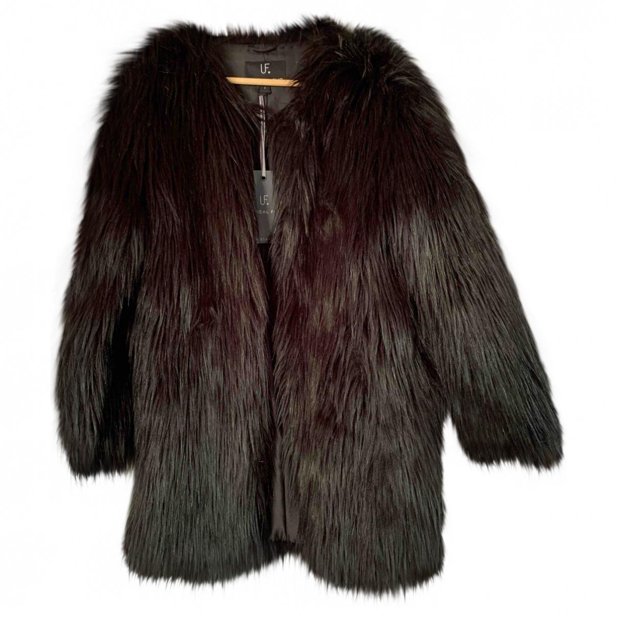 Unreal Fur - Manteau   pour femme en fourrure synthetique - noir