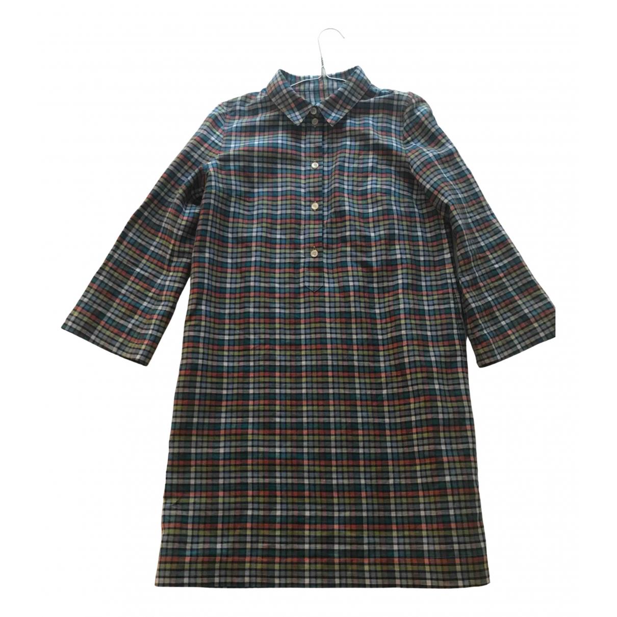 Apc \N Kleid in  Bunt Leinen