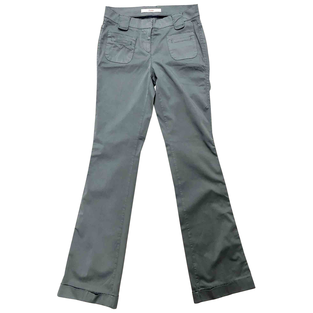 Jucca \N Grey Cotton Trousers for Women 38 FR