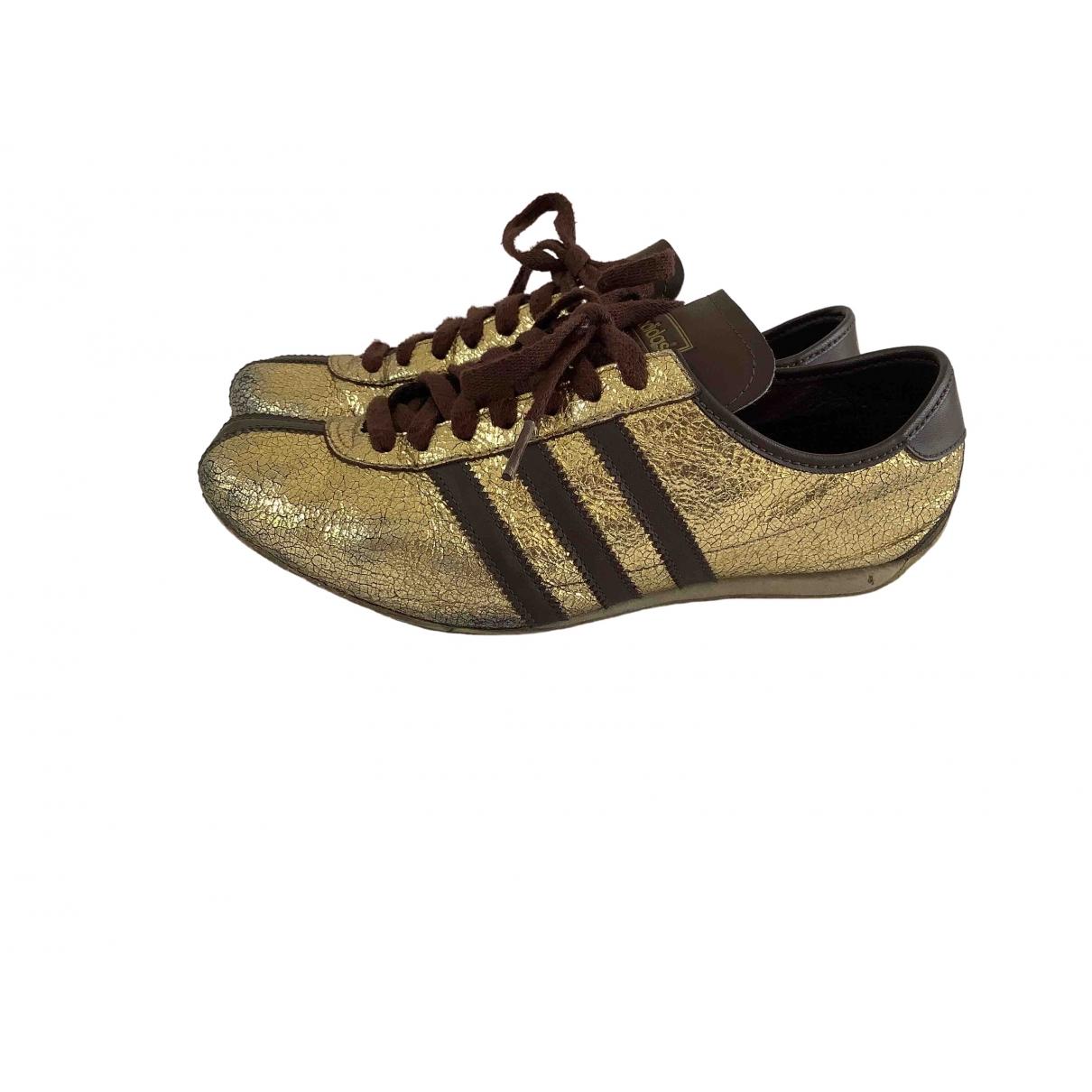 Adidas - Baskets Gazelle pour femme en cuir - dore