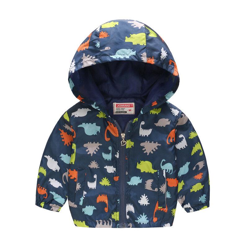 Toddler Girl Coats Boys Animal Print Hooded Jacket For 2Y-9Y