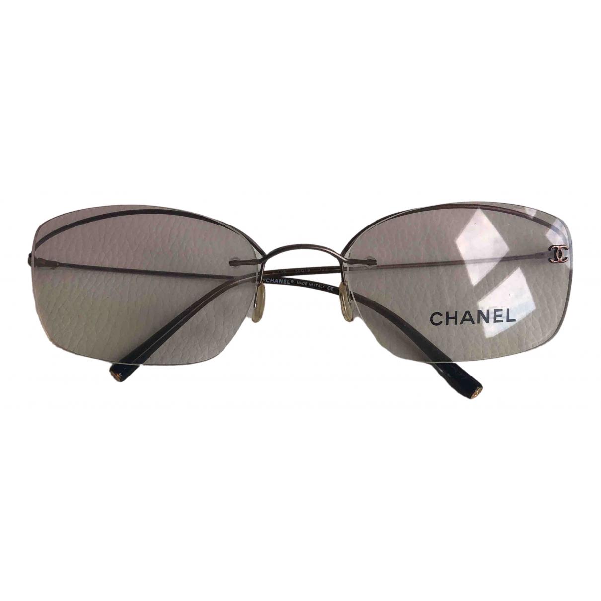 Chanel \N Metallic Metal Sunglasses for Women \N