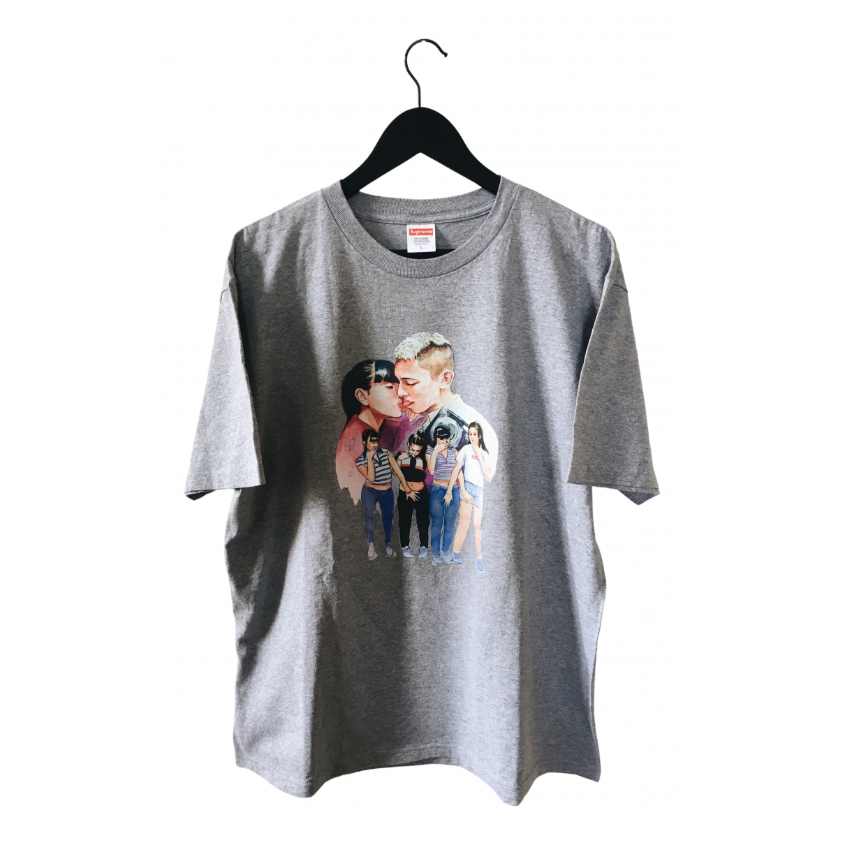 Supreme \N Grey Cotton T-shirts for Men L International