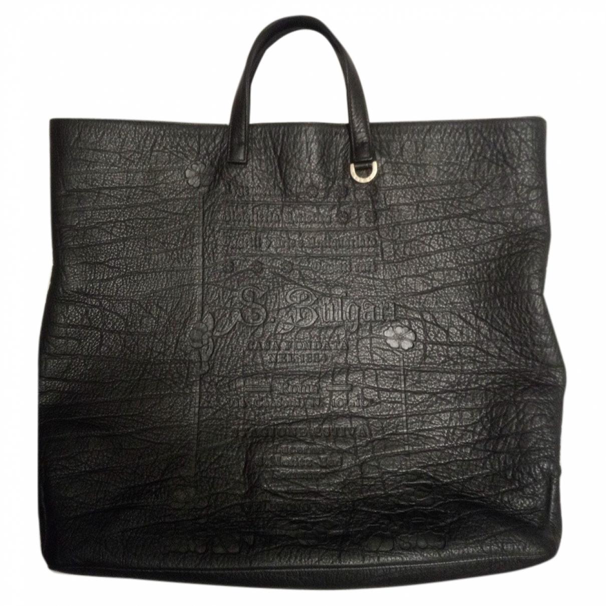 Bvlgari - Sac a main   pour femme en cuir - noir