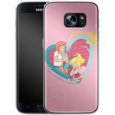 Samsung Galaxy S7 Silikon Handyhuelle - Bibi und Tina Schmusekaetzchen von Bibi & Tina