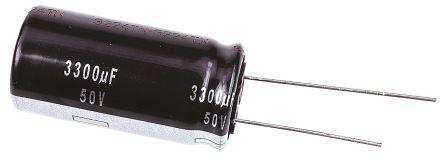 Panasonic 3300μF Electrolytic Capacitor 50V dc, Through Hole - ECA1HHG332