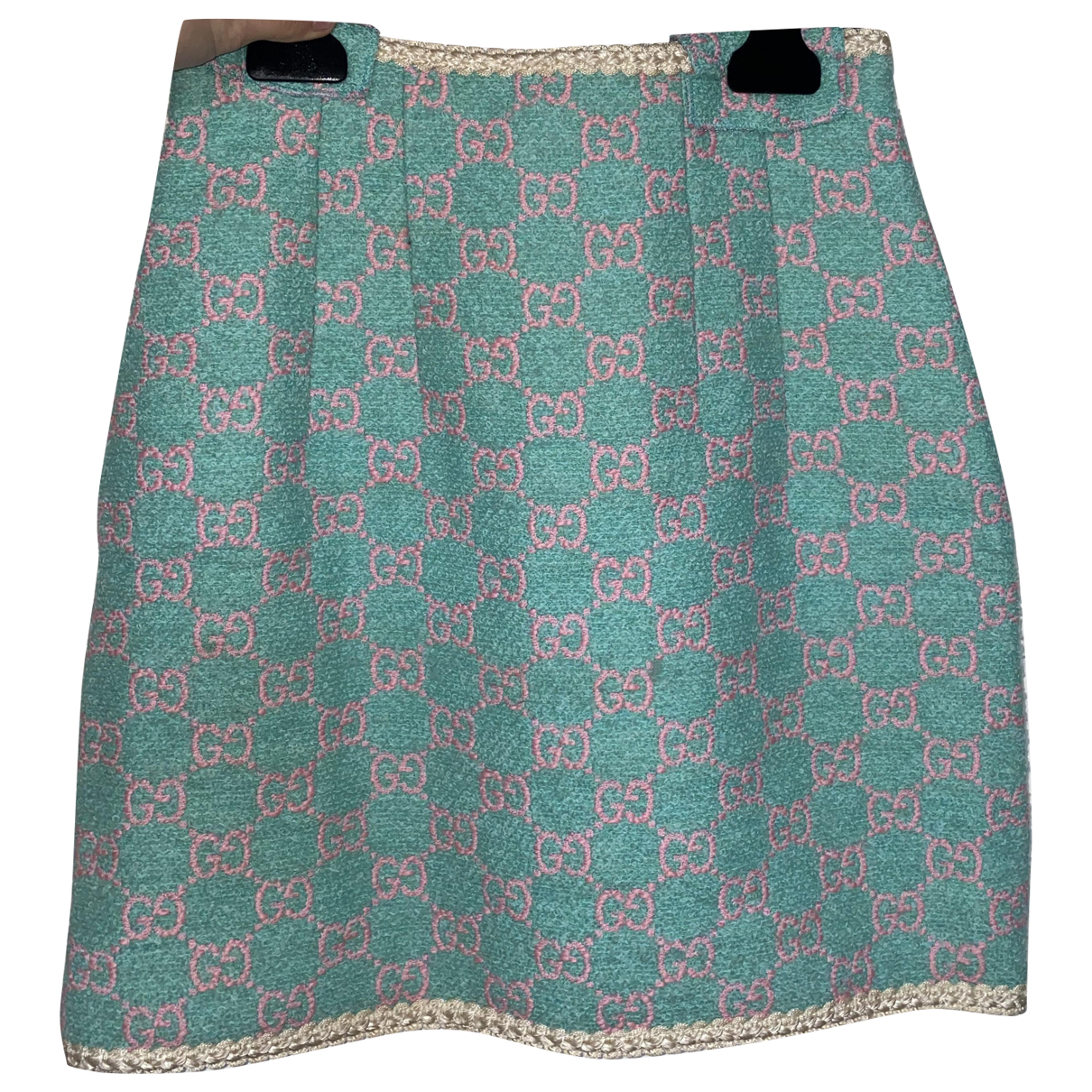 Gucci N Blue Tweed skirt for Women 38 FR