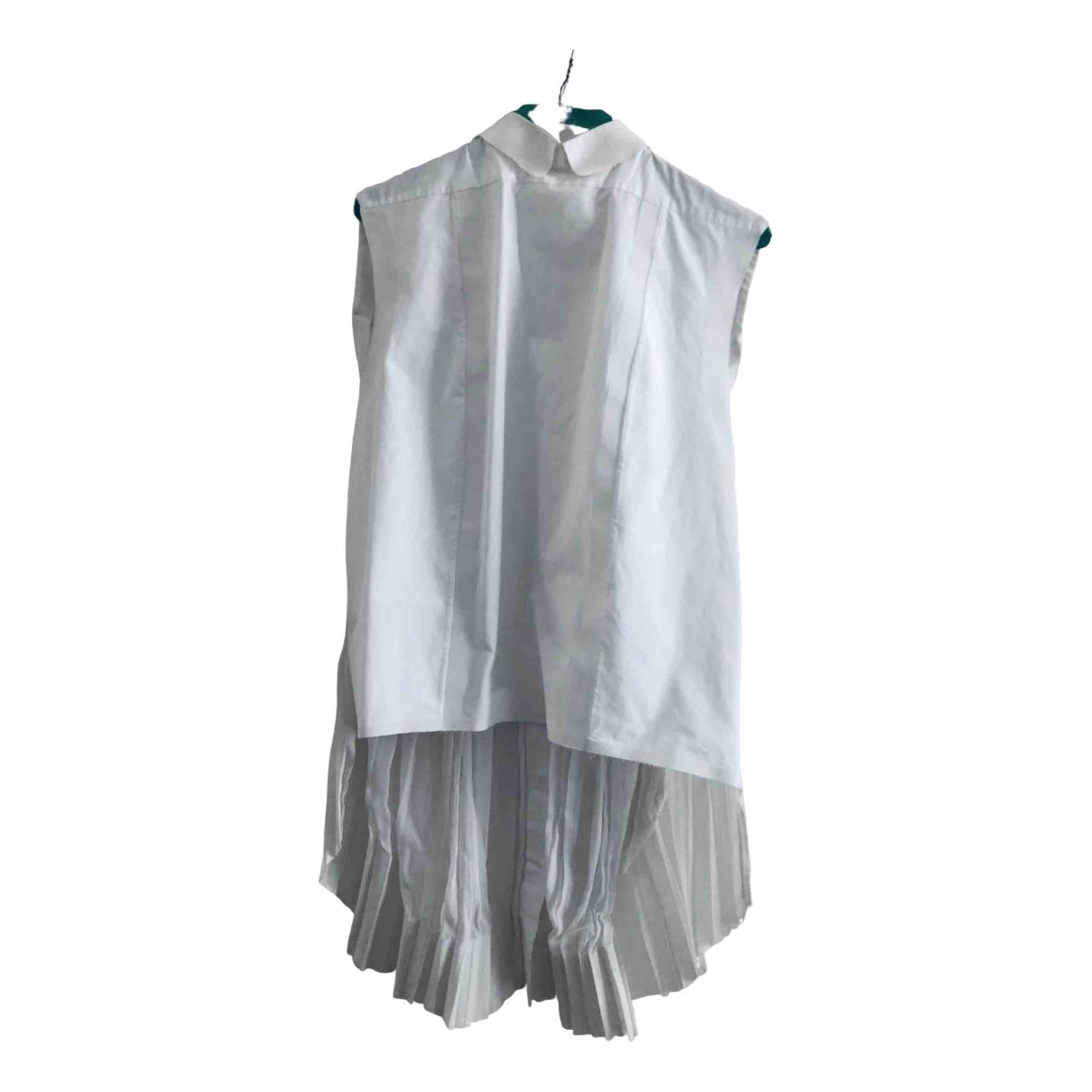 Celine \N White Cotton  top for Women 38 FR