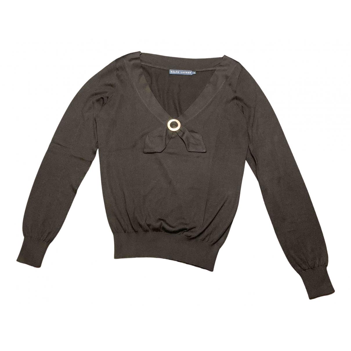 Ralph Lauren - Pull   pour femme en soie - noir