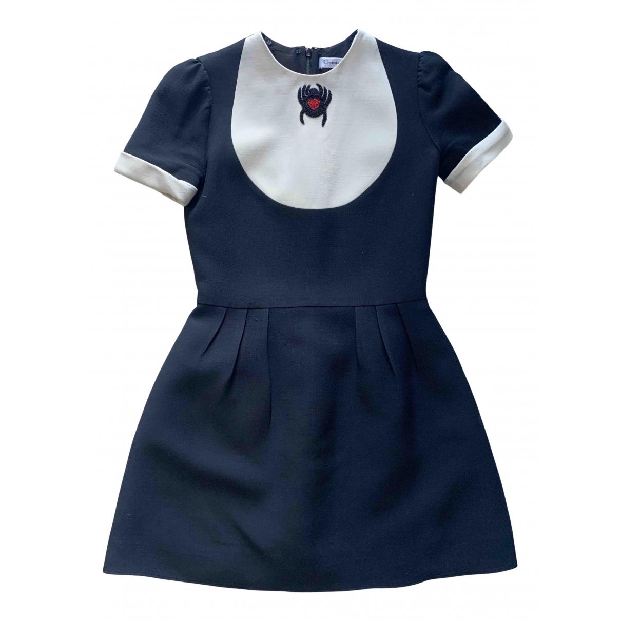 Dior N Black Wool dress for Women 36 FR