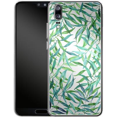 Huawei P20 Silikon Handyhuelle - Palm Print von Becky Starsmore