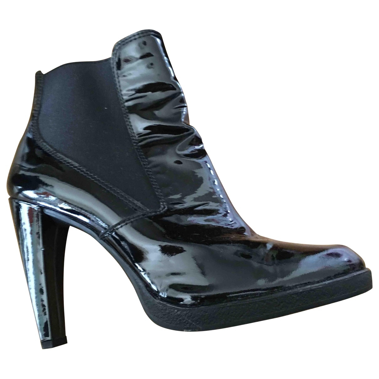 Stuart Weitzman \N Black Patent leather Ankle boots for Women 37 EU