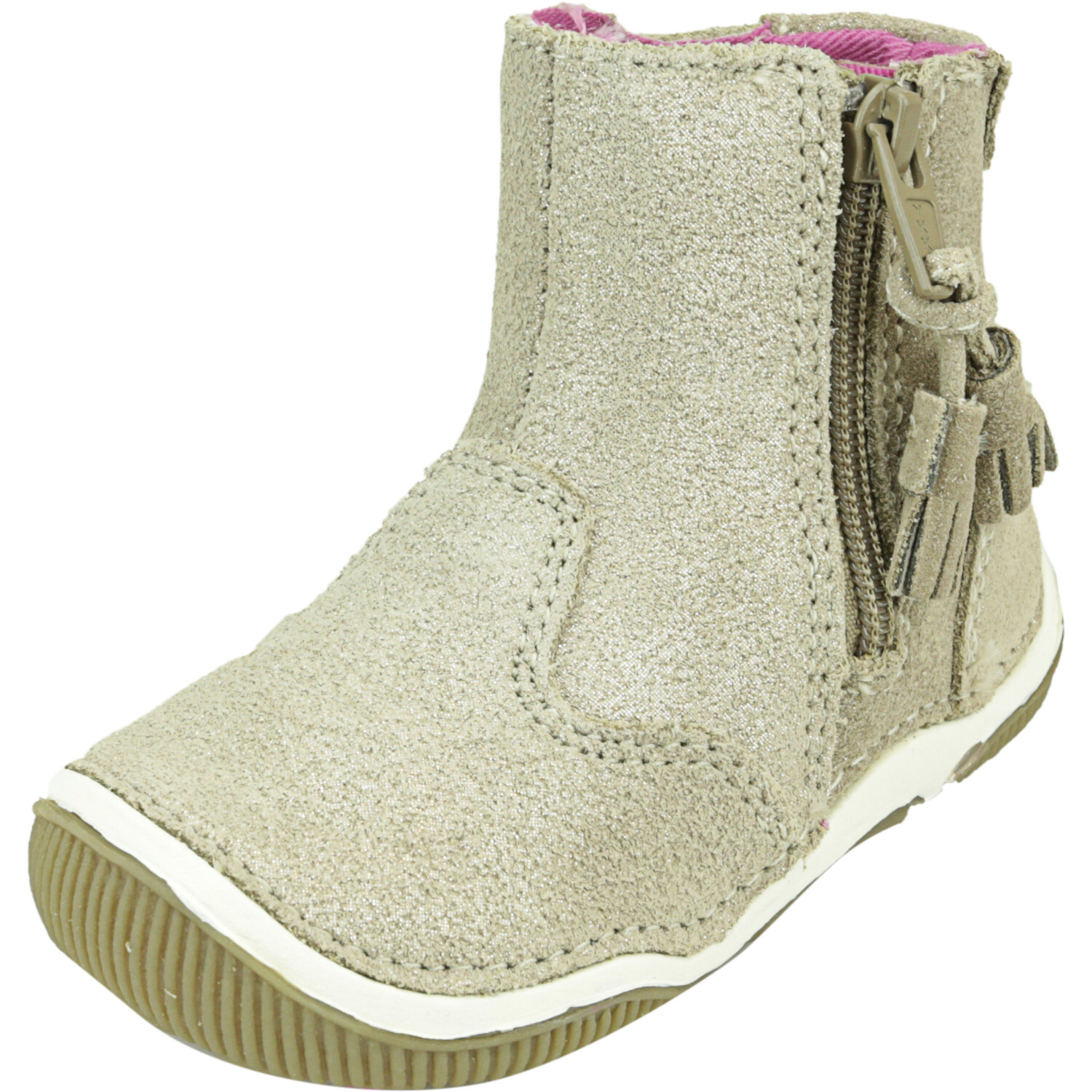 Stride Rite Girl's Srt Zoe Light Gold High-Top Leather Boot - 4M