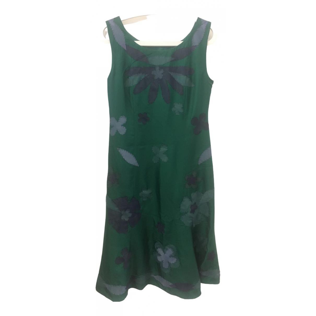 Moschino \N Kleid in  Gruen Seide