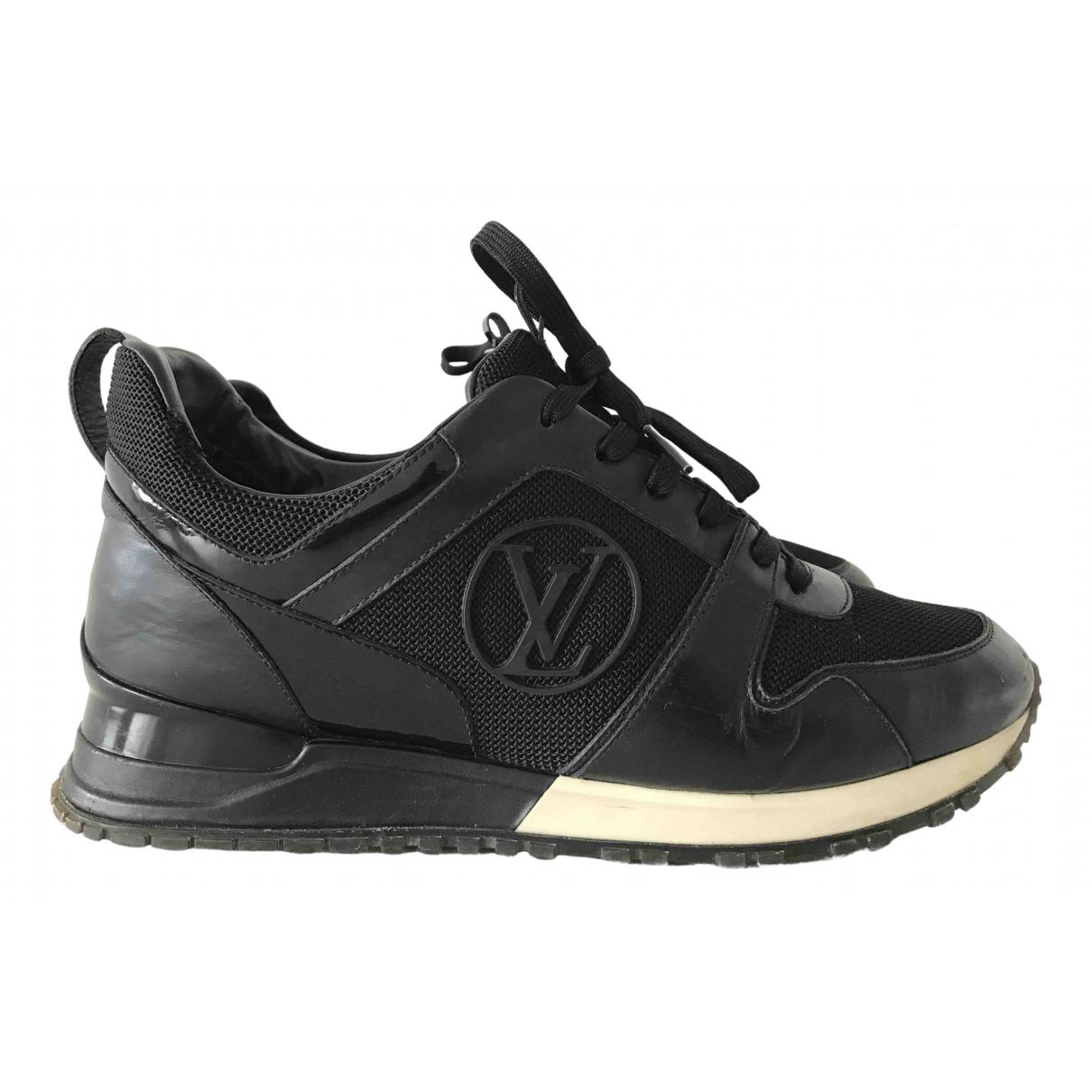 Louis Vuitton - Baskets Run Away pour femme en cuir - noir