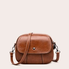 Zip Up Flap Crossbody Bag