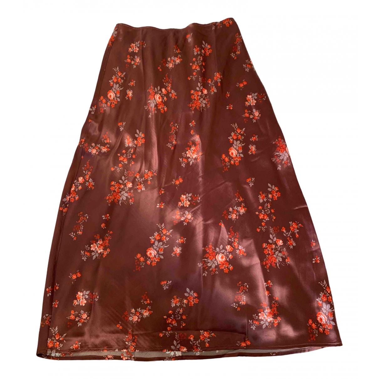 Reformation N Brown Silk skirt for Women 4 US
