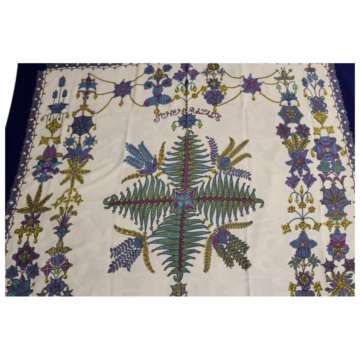 Hermès Châle 140 Blue Silk scarf for Women \N