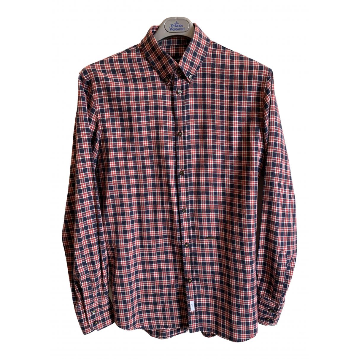 Dsquared2 - Chemises   pour homme en coton - rouge