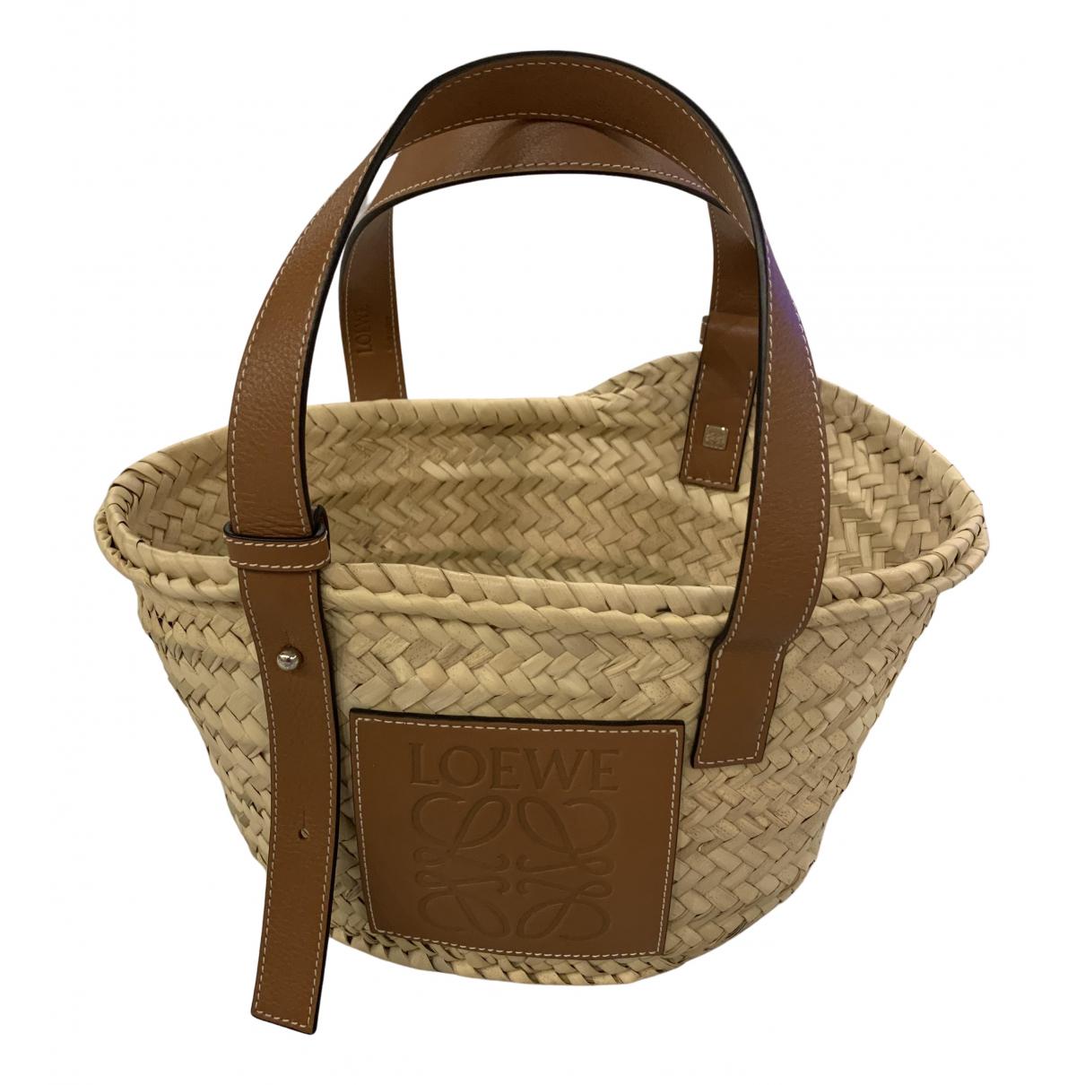 Loewe \N Handtasche in Stroh
