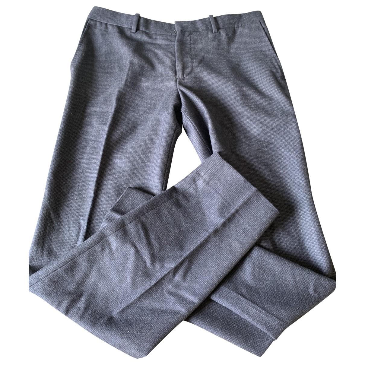 Balenciaga \N Blue Wool Trousers for Men M International