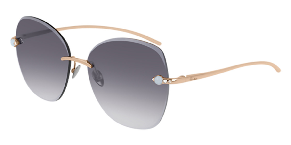 Pomellato PM0066S 001 Women's Sunglasses Gold Size 57