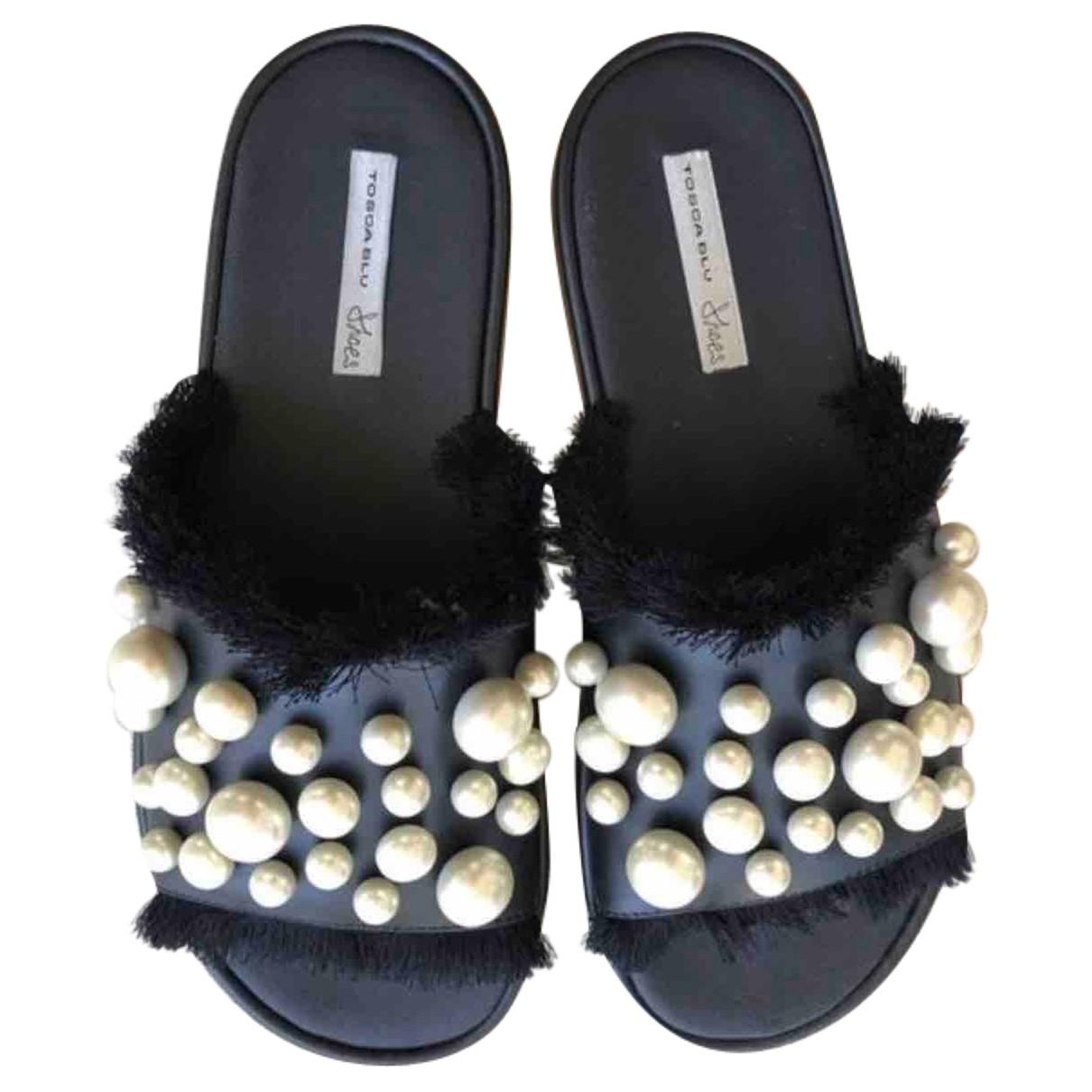 Tosca Blu - Sandales   pour femme en cuir - noir