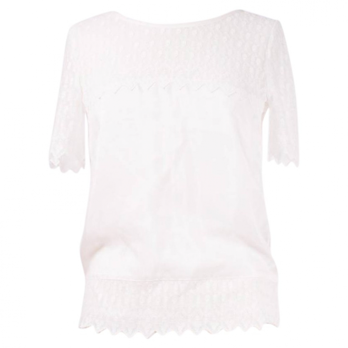 The Kooples \N White Silk  top for Women S International