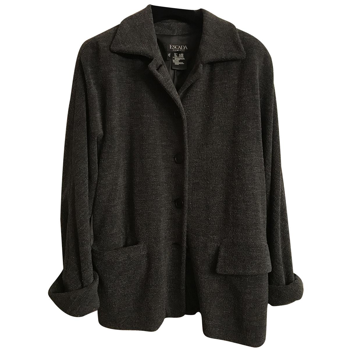 Escada - Manteau   pour femme en laine - gris