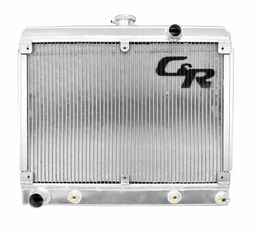 C&R Racing 20-01102 5.0 Coyote Engine Transmission Oil Cooler Downflow Spal Dual 11 in Fans Ford Fairlane 1962-1969