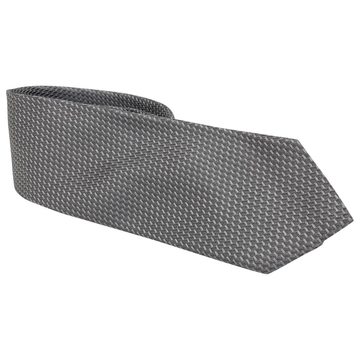 Emporio Armani - Cravates   pour homme en soie - argente