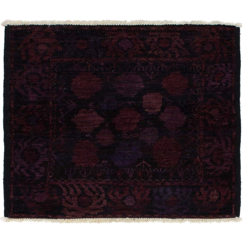 ECARPETGALLERY Hand-knotted Vibrance Black Wool Rug - 3'8 x 3'9 (Black - 3'8 x 3'9)