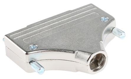 MH Connectors , MHDM Zinc D-sub Connector Backshell, 37 Way, Strain Relief, Silver