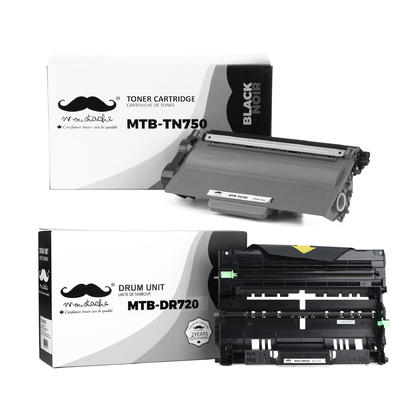 Compatible Brother HL-6180DWT cartouches de toner et tambour combo de Moustache