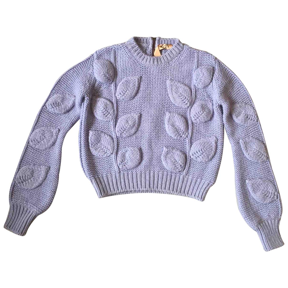 N°21 - Pull   pour femme en laine - violet