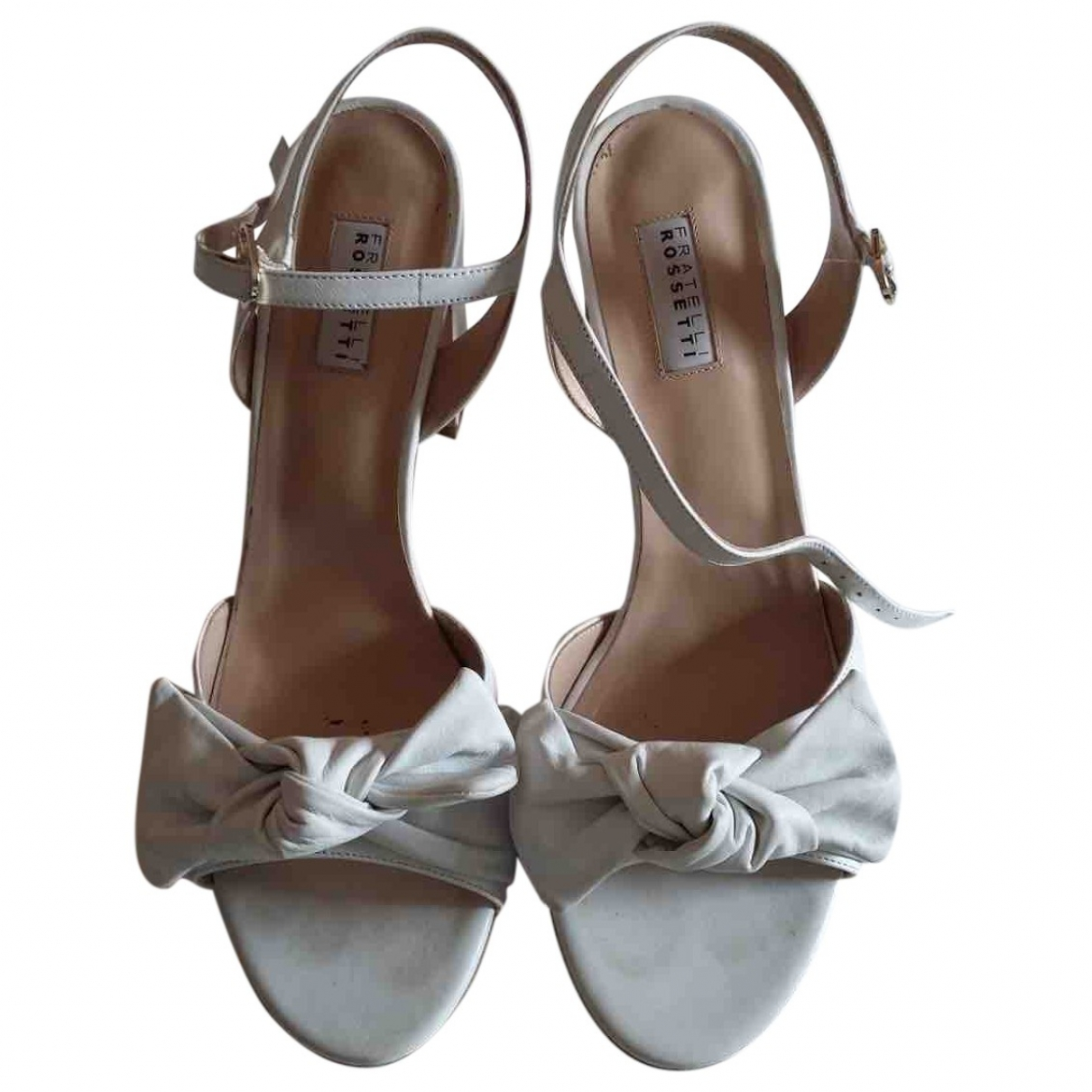 Fratelli Rossetti \N White Leather Sandals for Women 41 EU