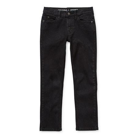 Arizona Flex Little & Big Boys Stretch Skinny Fit Jean, 12 , Black