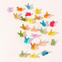 24 Stuecke Kleinkind Maedchen Haarklammer mit Schmetterling Dekor