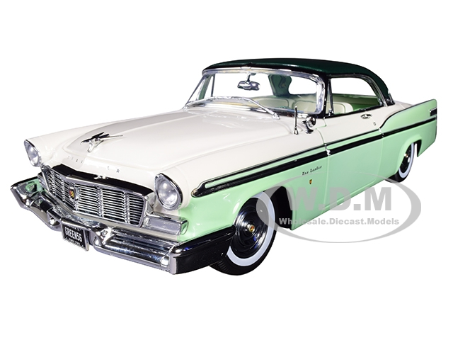 1956 Chrysler New Yorker St. Regis Mint Green and White with Dark Green Top Limited Edition to 570 pieces Worldwide 1/18 Diecast Model Car by ACME