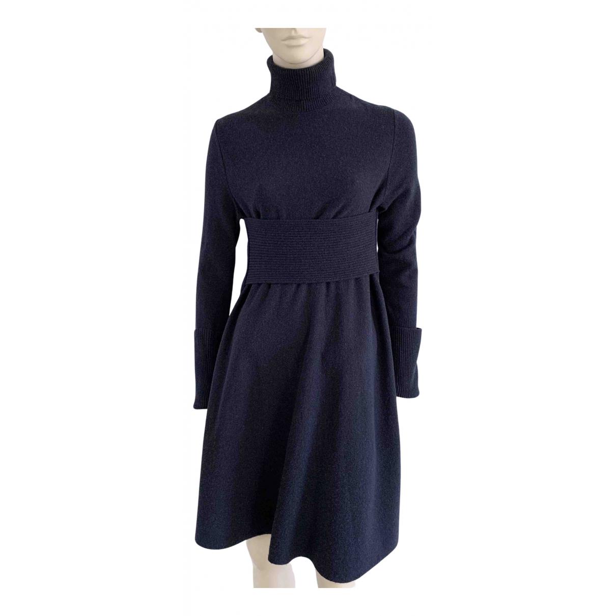 Cos \N Kleid in  Blau Wolle