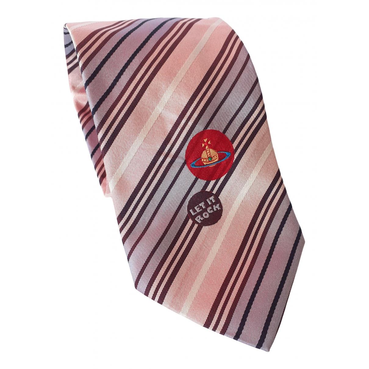Vivienne Westwood N Pink Silk Ties for Men N
